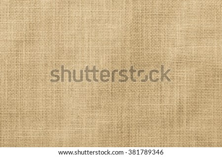 Sackcloth woven texture pattern background light cream yellow beige earth color tone: Eco friendly raw organic flax sack cloth fabric textile backdrop: Bag rope thread detailed textured burlap canvas