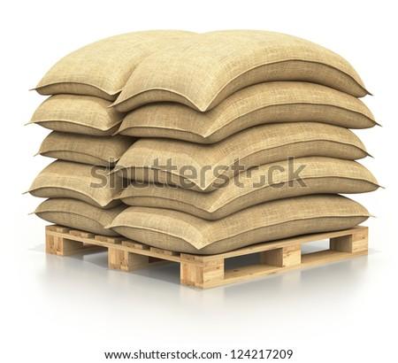 Sacks on the pallet