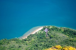 Saco do Mamanguá, located near Paraty, state of Rio de Janeiro, is a narrow long sea area which goes for 8 km until it reaches a well preserved mangrove forest, with rivers and waterfal/Paradise/Fjord