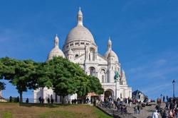 Sacré-Cœur Basilica on the Montmartre hill in Paris