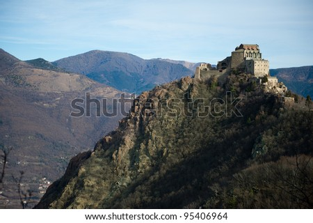 Sacra di San Michele abbey in northern western Italy