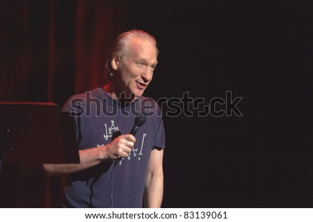 SACRAMENTO, CA - AUG 19: Bill Maher performs at Sacramento Convention Center in Sacramento, California on August 19th, 2011 - stock photo