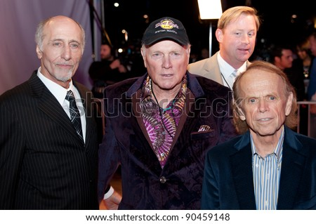 SACRAMENTO, CA - DEC 8: David Marks, Mike Love, and Al Jardine of the Beach Boys at the California Hall of Fame ceremonies Memorial Auditorium in Sacramento, California on December 8, 2011