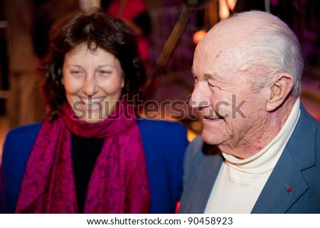 SACRAMENTO, CA - DEC 8: General Chuck Yeager arrives at the California Hall of Fame ceremonies at the Sacramento Memorial Auditorium in Sacramento, California on December 8, 2011