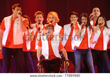 SACRAMENTO, CA - MAY 23: Cast members perform at the Glee Live! In Concert! tour at the Power Balance Pavilion on May 23, 2011 in  Sacramento, California.
