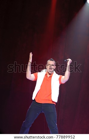 SACRAMENTO, CA - MAY 23: Mark Salling perform at the Glee Live! In Concert! tour at the Power Balance Pavilion on May 23, 2011 in  Sacramento, California.