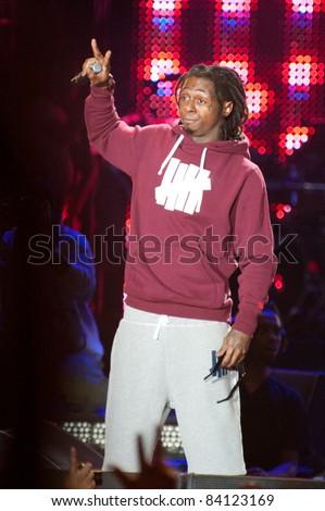 SACRAMENTO, CA - SEPT 3: Lil Wayne performs at Sleep Train Amphitheater on September 3, 2011 in  Wheatland, California.