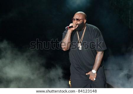 SACRAMENTO, CA - SEPT 3: Rick Ross performs at Sleep Train Amphitheater on September 3, 2011 in  Wheatland, California.