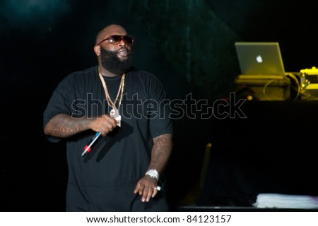 SACRAMENTO, CA - SEPT 3: Rick Ross performs at Sleep Train Amphitheater on September 3, 2011 in  Wheatland, California.