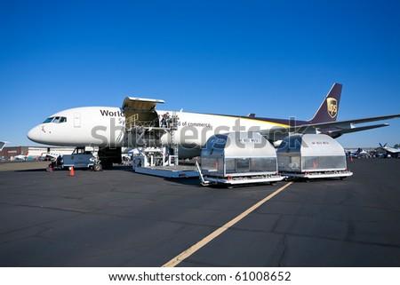SACRAMENTO, CA - SEPTEMBER 11: Boeing 757-24APF UPS on display at California Capital Airshow, September 11, 2010, Mather Airport, Sacramento, CA