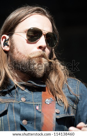 SACRAMENTO, CA - SEPTEMBER 23: Chris Traynor of Bush performs as part of the Aftershock Music Festival at Discovery Park on September 23, 2012 in Sacramento, California.