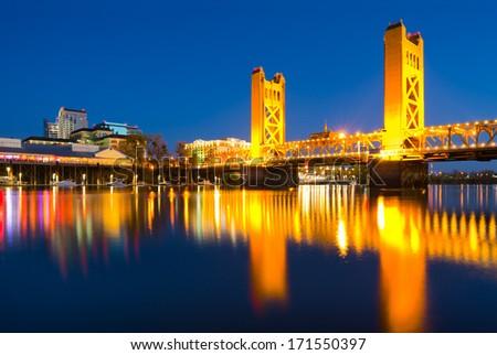 Sacramento California at night #171550397