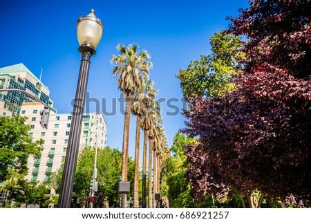 sacramento california city skyline and street views #686921257