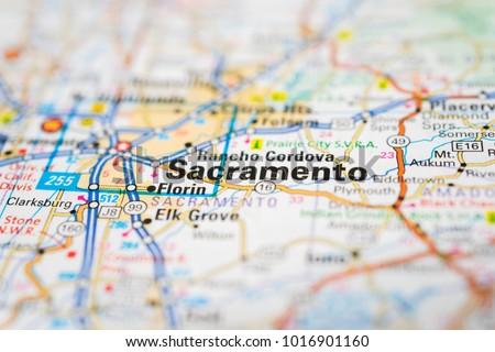 Sacramento on USA map #1016901160