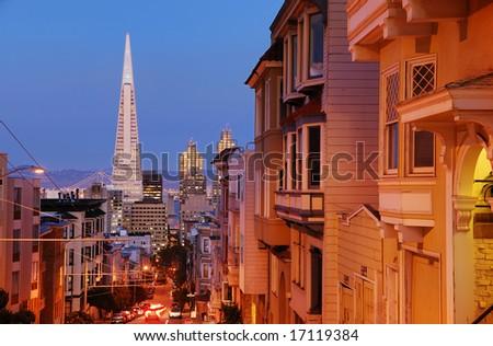 Sacramento Street in Nob Hill, San Francisco