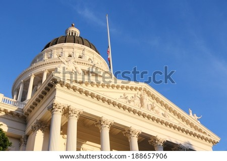 Sacramento, United States - California State Capitol building.