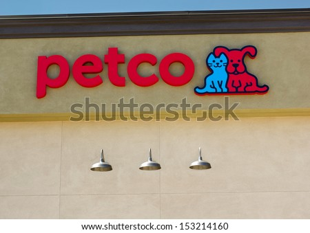 SACRAMENTO, USA - SEPTEMBER 5, 2013: Petco store sign. Petco Animal Supplies is an American chain of retail stores that sells pet supplies and services as well as live animals.
