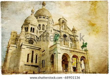 Sacre coeur - artistic Parisian series