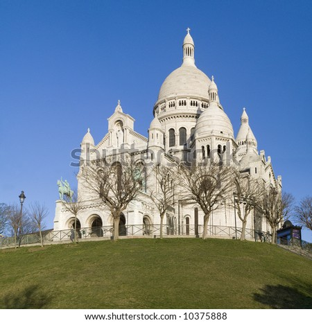 Sacre-Coeur cathedral,Montmartre,Paris,winter2008