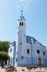 Sacred Elizabeth's church (Blue church, 1913). One of symbols of Bratislava