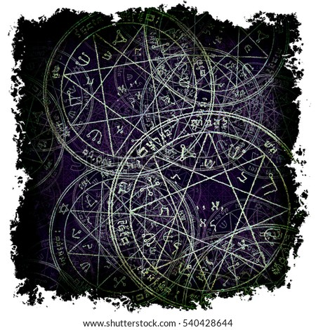 Airstock is - sacred geometry grunge frame, jupiter pentacle