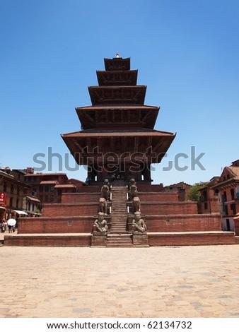 Sacred pagoda at the Durbar Square, Bhaktapur, Nepal