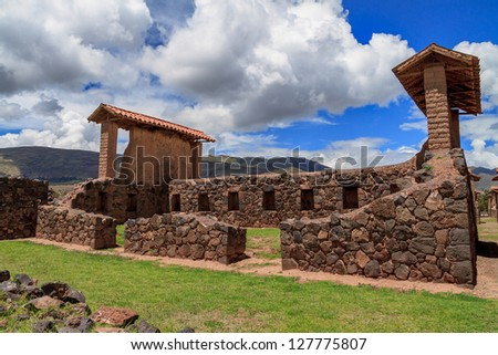 Sacred Raqchi Ruins of the Incas, Peru
