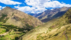Sacred Valley of the Incas (Urubamba Valley). It is located in the present-day Peruvian region of Cusco.