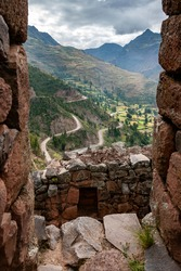 Sacred Valley of the Incas viewed from Qantus Raqay in Peru, South America.