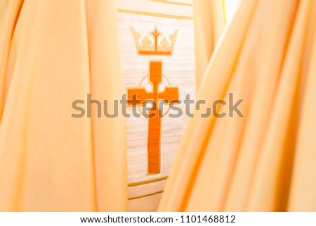 sacred vestments of the church - Shutterstock ID 1101468812