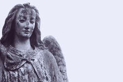 sad angel as a symbol of eternity, life and death