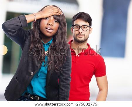 sad black-woman worried