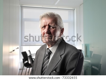 Sad businessman in office