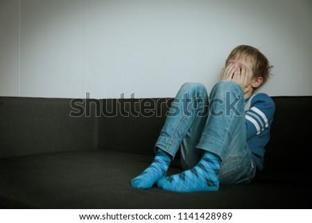 sad child, stress and depression #1141428989