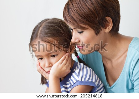 sad daughter and understanding mother good family life