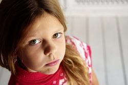 sad emotion little girl