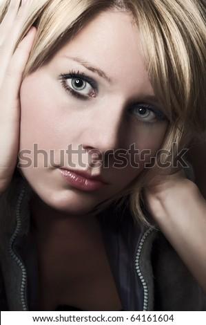 Sad face woman