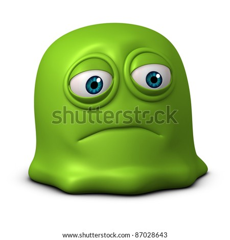 sad jelly - stock photo