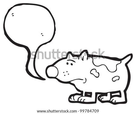 Sad Dog Cartoon Black And White Sad Little Dog Cartoon