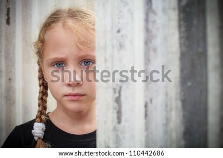Sad little girl