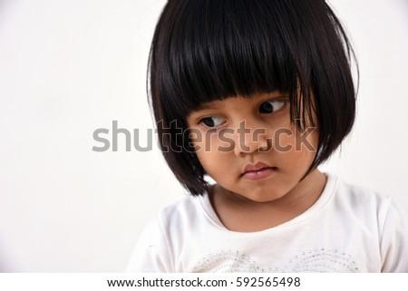 sad little girl #592565498