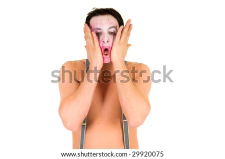 clown faces makeup. face sad clown makeup.