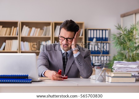 Sad man in online dating concept