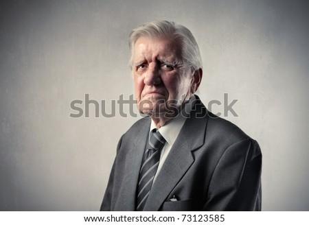 Sad senior businessman