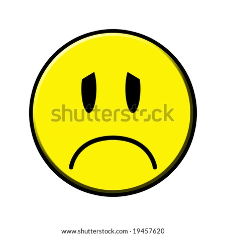 sad smiley face clip art. stock photo : sad smiley