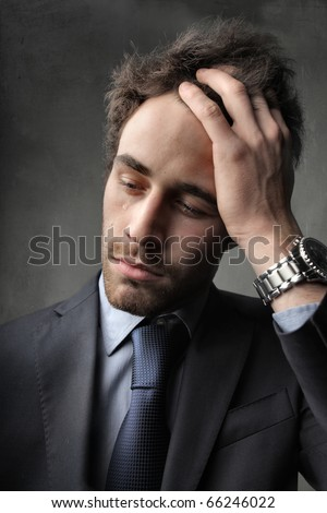 Sad worried businessman