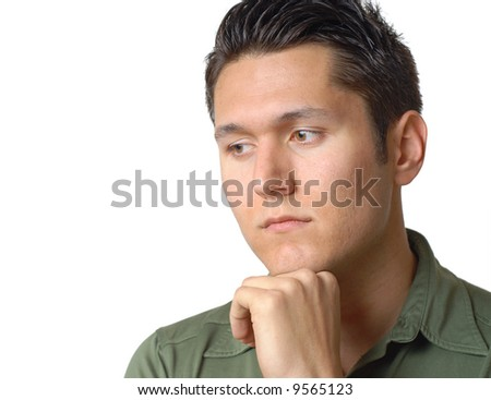 Stock Photo Sorrow Man Sitting Alone | Male Models Picture