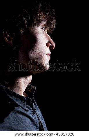 Sad Young Man Thinking Stock Photo 43817320 : Shutterstock