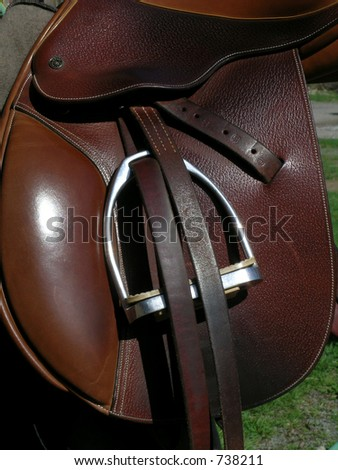 saddle - stock photo