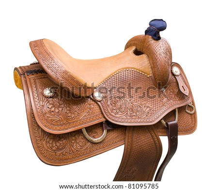 saddle for equestrian sport and entertainment